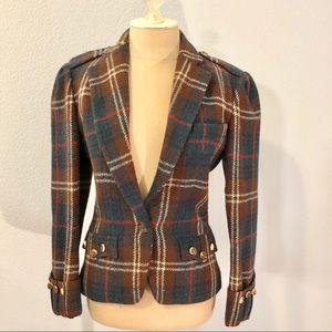 Ralph Lauren fitted plaid jacket